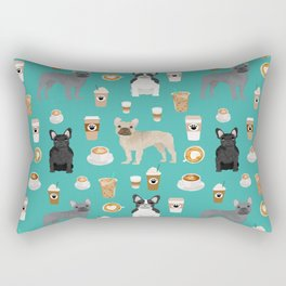 French Bulldog coffee pupuccino dog breed gifts frenchies must haves Rectangular Pillow