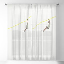 Zip Wire Sheer Curtain