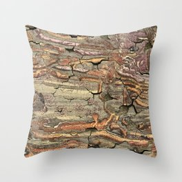 Peeling Worm Wood Throw Pillow