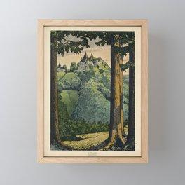 kyburg gewidmet von der fabrik von vintage Poster Framed Mini Art Print