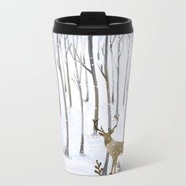 Winter Deer Metal Travel Mug