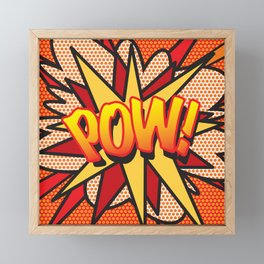 Comic Book POW! Framed Mini Art Print