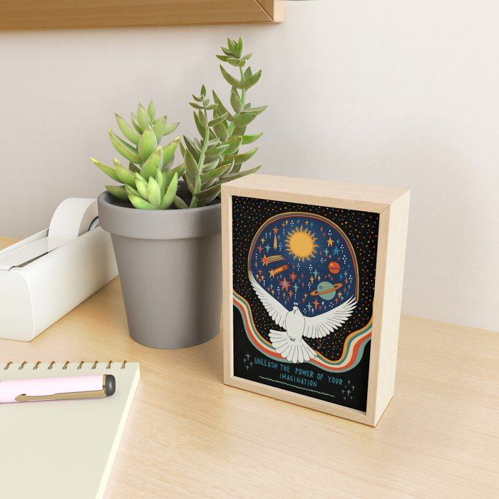 Unleash the power of your imagination Framed Mini Art Print