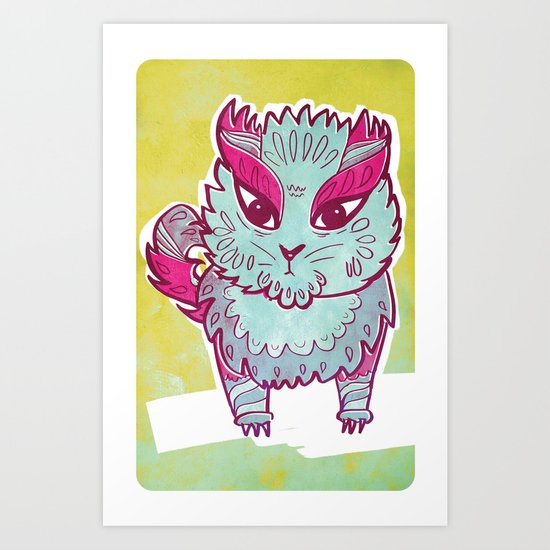 Panda Cat  Art Print