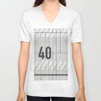 concrete V-neck T-shirts featuring background concrete by Tony Vazquez