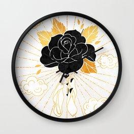 Black Rose Inktober :: Your Psyche Wall Clock