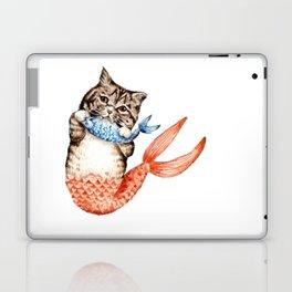 Cute Purrmaid Cat Mermaid Laptop & iPad Skin