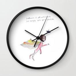 SADNESS POUTINE Wall Clock