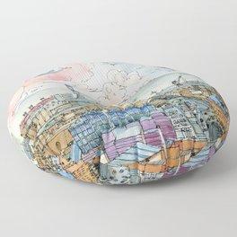 Genova e la Lanterna Floor Pillow