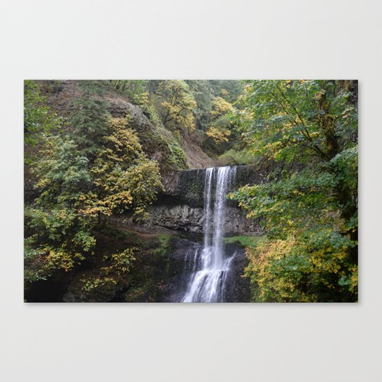 Waterfall in the Fall / Silver Falls State Park, Oregon Canvas Print