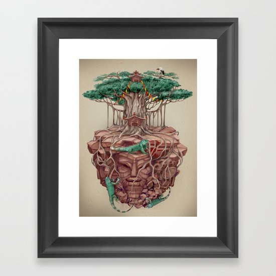 tree land Framed Art Print