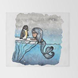 Antarctic Mermaid Throw Blanket