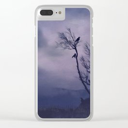 Birds in the Night Clear iPhone Case