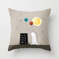 planet Throw Pillows featuring Planet by Jane Mathieu