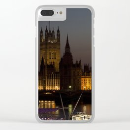 Big Ben London Night Time Clear iPhone Case