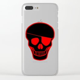 Skull With Eye Clear iPhone Case