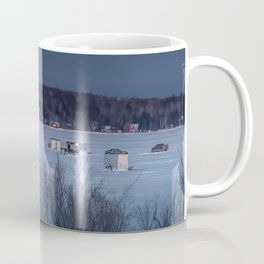 Ice Fishing on Fish Hook Lake Coffee Mug