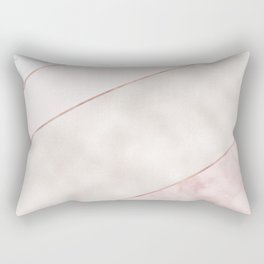 Spliced mixed pink marble and rose gold Rectangular Pillow