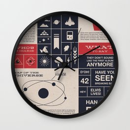 Welcome to the Universe! Wall Clock
