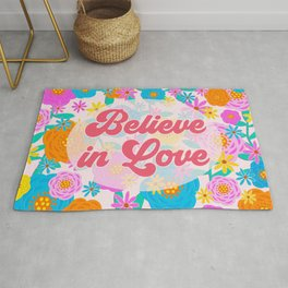 Believe in Love Rug