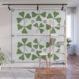 Shamrocks & Trinity Knots Wall Mural