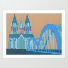 Hohenzollern Bridge Art Print