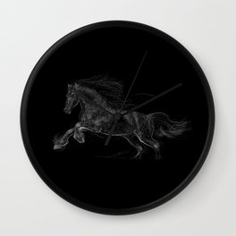 Horse - Gallopping Wall Clock