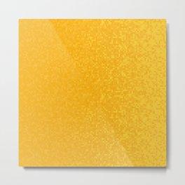 Orange Yellow Pixilated Gradient Metal Print