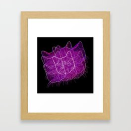 Fourth Dimensional Cat Framed Art Print