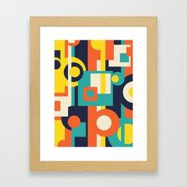 Funky Geometry (Modern Vibrant Color Palette) Framed Art Print