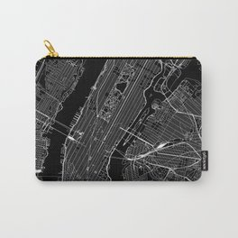 New York City Black Map Carry-All Pouch
