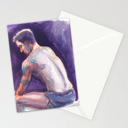 UNTITLED, Semi-Nude Male by Frank-Joseph Stationery Cards