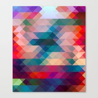 triangle Canvas Prints featuring TRIANGLE by Hands in the Sky
