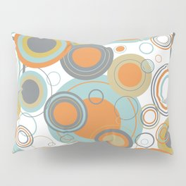 Retro Mid Century Modern Circles Geometric Bubbles Pattern Pillow Sham