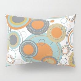 Retro Mid Century Modern Circles Geometric Bubbles Pattern Pillow Sham