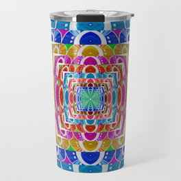 Retro Chromatic Psychedelic Classic Travel Mug