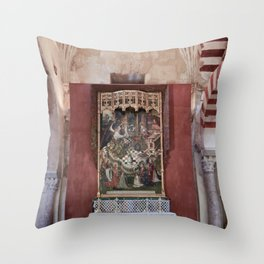 Conjoined Faiths (Mosque-Cathedral of Cordoba) Throw Pillow