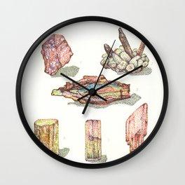 Minerales notables Wall Clock