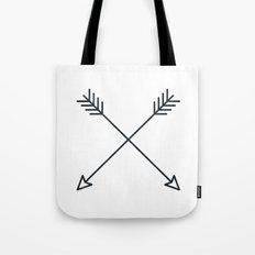 Arrows - Black and White Arrow Adventure Wanderlust Vintage Compass Design Tote Bag