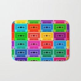 Neon Cassettes Bath Mat