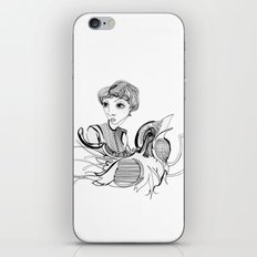 Woman On Bird iPhone & iPod Skin