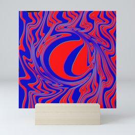 thrust, red and blue Mini Art Print