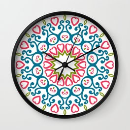 Patterns Vintage Wall Clock