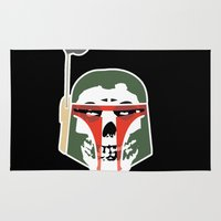 boba Area & Throw Rugs featuring Boba MisFetts by Don Calamari