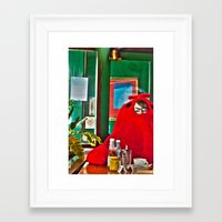 lobster Framed Art Prints featuring Lobster by Suzi Corker