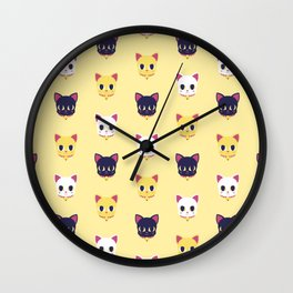 Maneki neko pattern Wall Clock