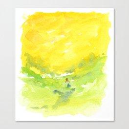 Walking in the Sun Canvas Print