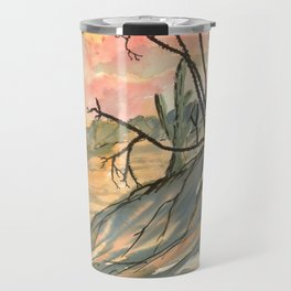 Southwestern Art Desert Painting Travel Mug