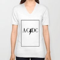 acdc V-neck T-shirts featuring Classy Rockers by blairartisan