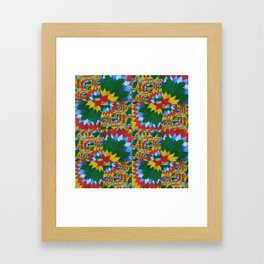 math book recycled paper collage for cushion prints and clocks beautiful bright composition  Framed Art Print